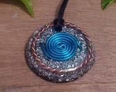 Powerful Orgone Pendant - With STU Tensor Ring and  Galactic Cubit Coil - EMF protection- Energy Healing - Positive Energy