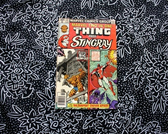 Marvel Two In One #64. The Thing And Stingray Vintage 1980 Bronze Age Comic Book. Rare Fantastic Four Two In One