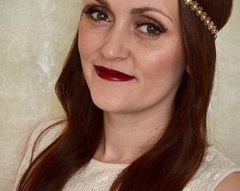 Gold Silver Rhinestone Daisy Chain Headband Festival Hippy Bridal Beau Flutterby