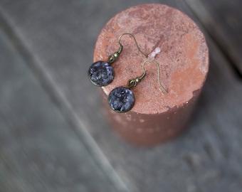Amethyst earrings, purple earrings, natural raw stone earrings, February birthstone, mineral earrings, boho jewelry minimalist boho earrings
