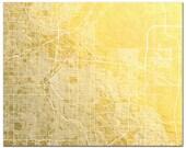 Denver Map Print, Gold Foil Denver Map, City Map, Gold Foil Print, Map Wall Art of The Mile High City