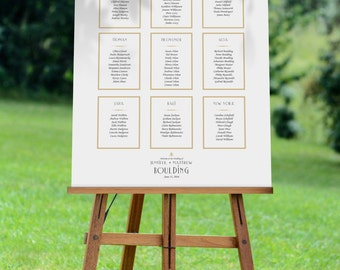Modern Botanical Illustration Wedding Seating chart, Various Sizes