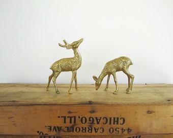 Brass Deer Figures