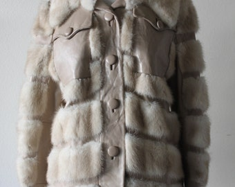 Vintage 1970's Gorgeous Leo Reitner Mink And Leather Fur