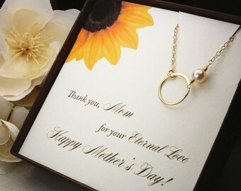 Mothers day necklace mothers day jewelry gift mothers day poem gold eternity necklace eternity charm gold infinity necklace infinity mom