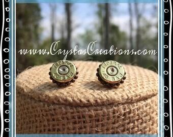 Original Chic Brass Bullet Earrings w/Trim
