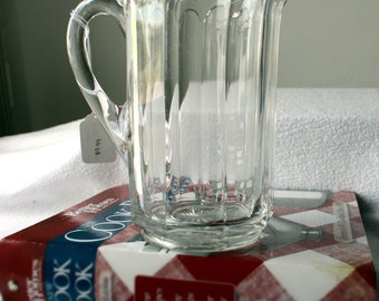 Clear Glass Pitcher item 0386