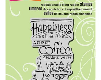 Stampendous!  Cling Stamp Shared Coffee