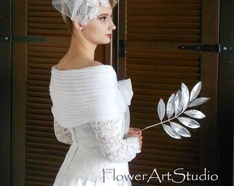 White Bridal Shawl, Bridal Cover Up, Wedding Bolero, White Shrug, Wedding Wrap, Crochet Shawl, White Capelet, Bridal Cape, Bridesmaid Shawl