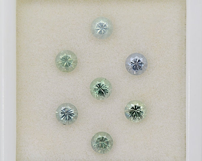 Minty Natural Sapphire Gemstone Set from Montana 2.53 tcw