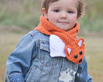 Custom Fox Scarf,   Crochet Fox Scarf Neck Warmer,   Girls Fox Cowl,   Made to Order