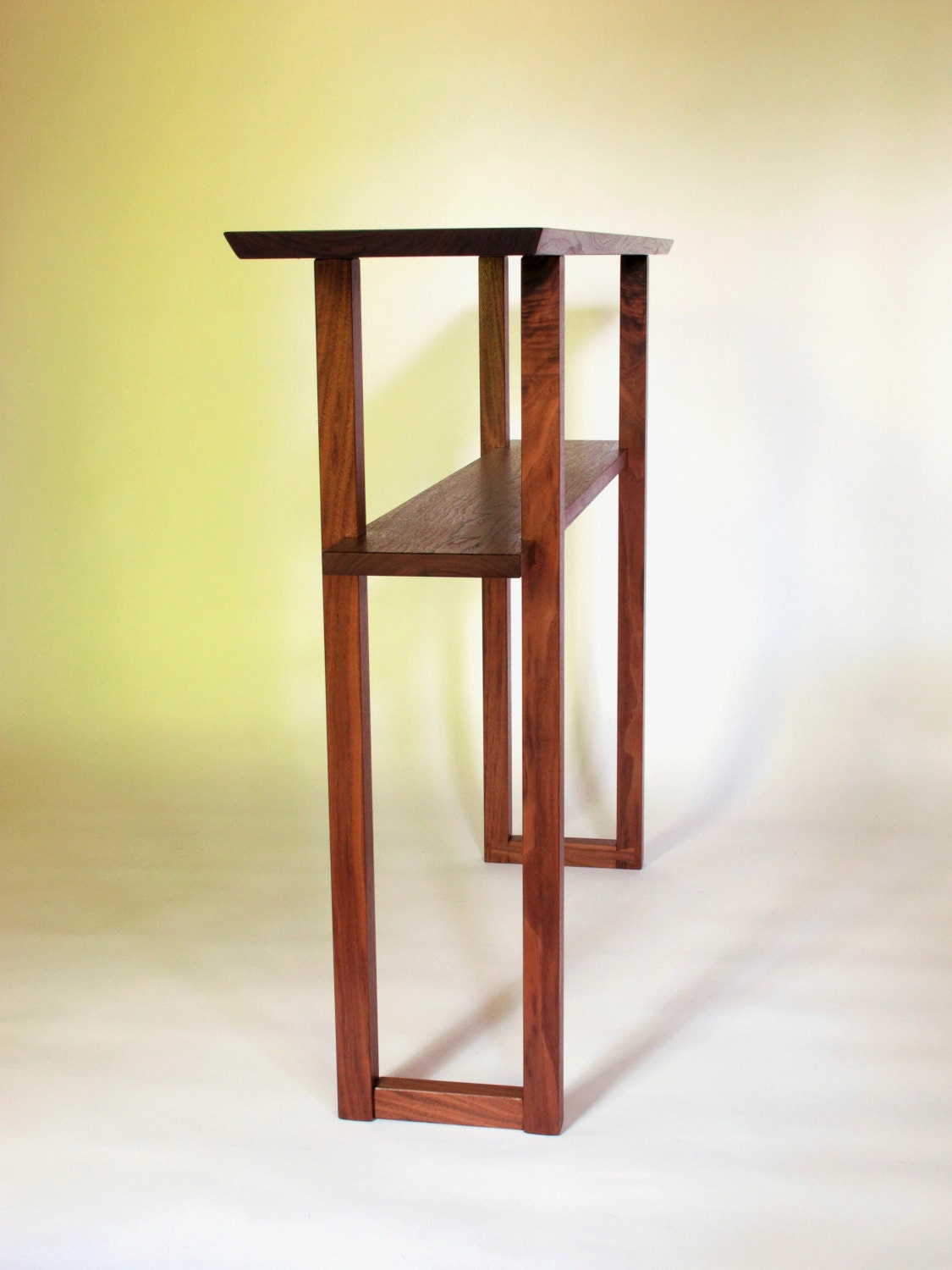 Modern Walnut Console Table For Narrow Hall Table Wood Entry