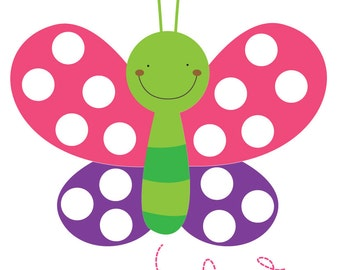 Butterfly & Caterpillar Pom Pom Play Mats - Bright - AUTOMATIC DOWNLOAD