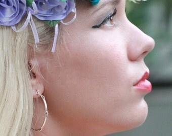 90s Hoop Earrings, Hoop Earrings Sterling Silver, Earrings, Silver Earrings, 90s Sterling Silver Earrings, Silver Hoops,
