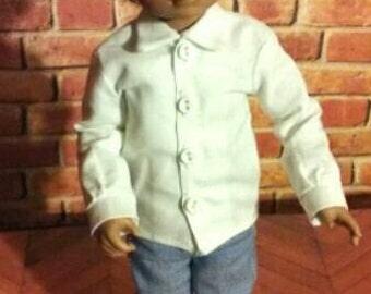 Yosd bjd Button shirt - girls or boys version- short or long sleeve- 22 solid colors