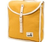Sunshine Heap Backpack, Retro, Vintage Inspired, Canvas and Leather kids Bag - Kids Backpack