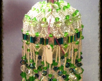 Beaded Fringed Christmas Ornaments