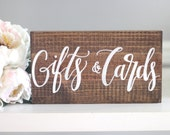Rustic Wedding Sign, Gifts & Cards Sign, Cards Sign, Wooden Wedding Sign, Gift Table Sign