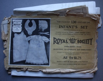 Antique Royal Society Embroidery, Infant's Set, Number 130
