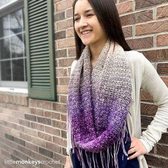 Free Crochet Pattern For Infinity Scarf With Fringe : Crochet Pattern Fringe Infinity Scarf Providence Infinity