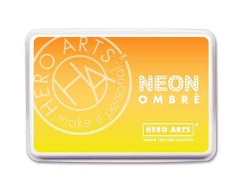 Hero Arts - Neon Ombre Yellow To Orange Ink Pad - 1 piece - AF328