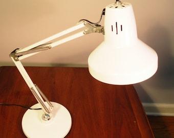 Vintage Mid Century White Desk Lamp
