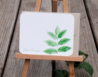Leaf Stem Personalized Stationary Set - Eco Friendly Stationery gift