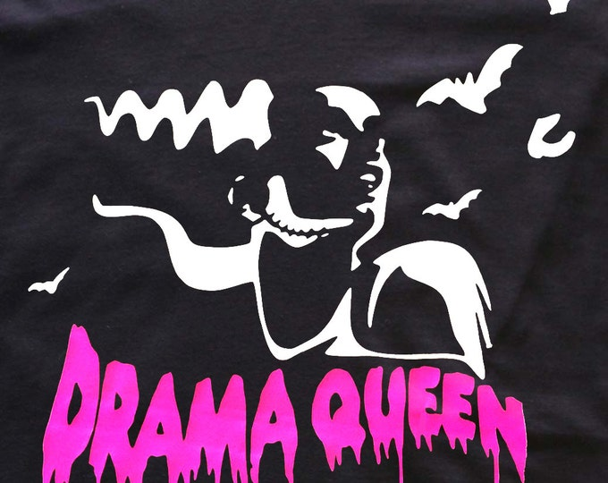 Drama Queen t-shirt goth - Frankenstein Bride