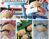 Custom Lg. 33cm Sweetheart Tilda Toy Box doll ultra-suede cloth Doll with removable clothes incl Keepsake Giftboxed