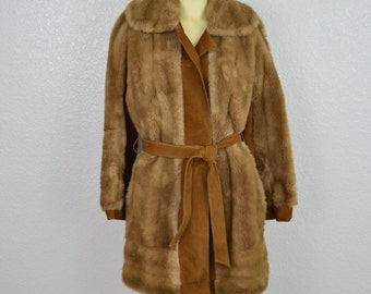 SALE! Lilli Ann Vintage Faux Fur Coat
