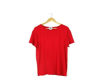 Vintage Oversized Red Short Sleeve Slouchy T-shirt From 1980's*