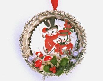 Christmas Ornament Snowman Christmas Kitsch
