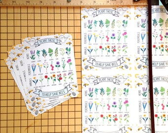 Plant These to Help Save Bees *MINI* Prints