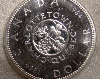 1964 Canada One Dollar Proof Like Silver Coin - MS63