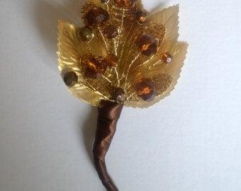 Autumn Wedding Groom Buttonhole Boutonniere