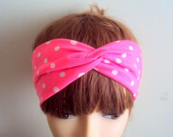 Polka Dot Headband Yoga Headband Workout Headband Fitness Headband Running Headband Women Hair Accessories