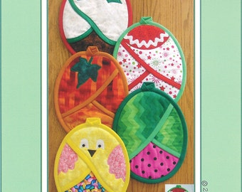 """Pattern """"Hot Pads Four All Seasons"""" by Susie C. Shore Designs (VL-1446) Paper Pattern"""