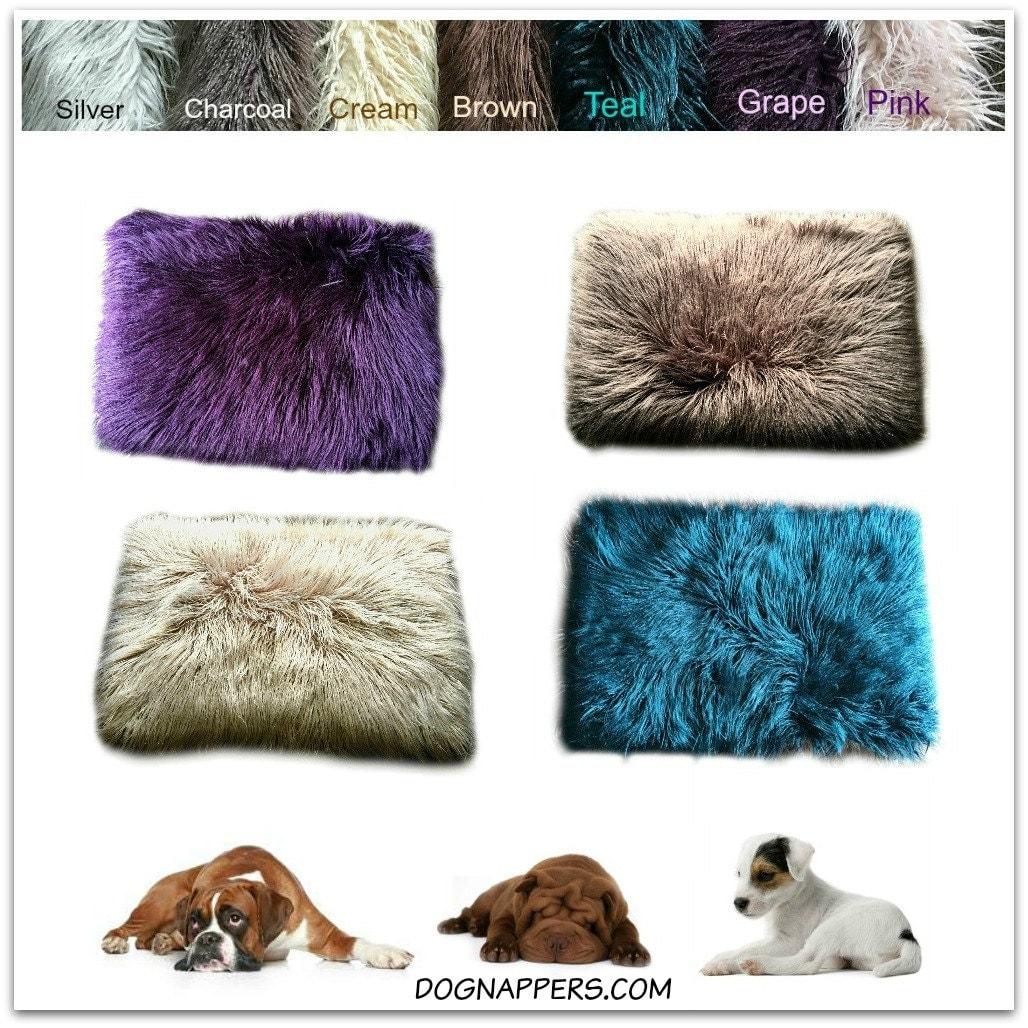 SALE Dog Bed Pet Cat Mat Faux Fur Shaggy Long By FurAccents
