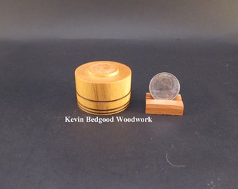 Box Lidded Container Proposal engagement Bolivian Yellowheart wood, jewelry stash