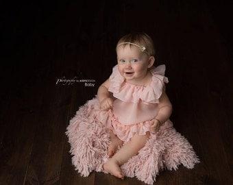 Ronnie Gown • Sitter Sheer Gown • Newborn Sheer Dress • Baby Nightgown • Newborn Chemise • Sitter Nightgown • Christening • Newborn Gown