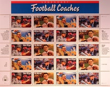 Legendary Football Coaches Stamps/ Philately /Postage stamps/ Bear Bryant/ Pop Warner/ Vince Lombardi/ George Halas/ Stamp collecting
