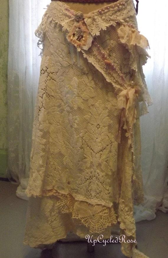 Price Reduced Save 35.00 Miss Molly's Wedding Skirt, Shabby Couture,Paris Romance,Bohemian Beach Wedding Wearable Art Summer Romance