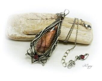 Labradorite, Tourmaline 935 Silver Pendant & 925 Silver Necklace