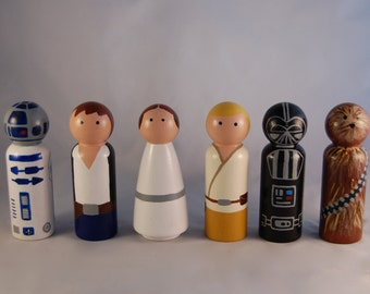 Star Wars Toys Wooden Peg Doll Set Hand Painted