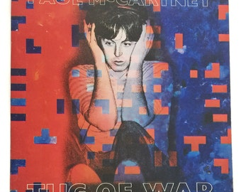 Vintage 80s Paul McCartney Tug of War Album Record Vinyl LP