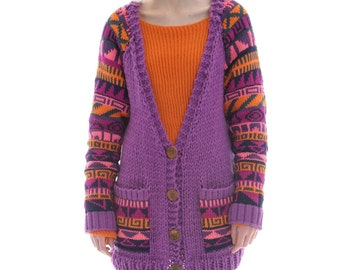 Hand Knit Fairisle Cardigan by Megan Crook