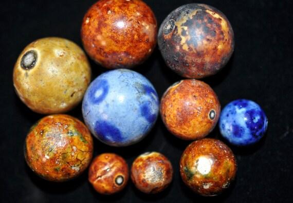 10 Antique Bennington Marbles Vintage Decor Collectible