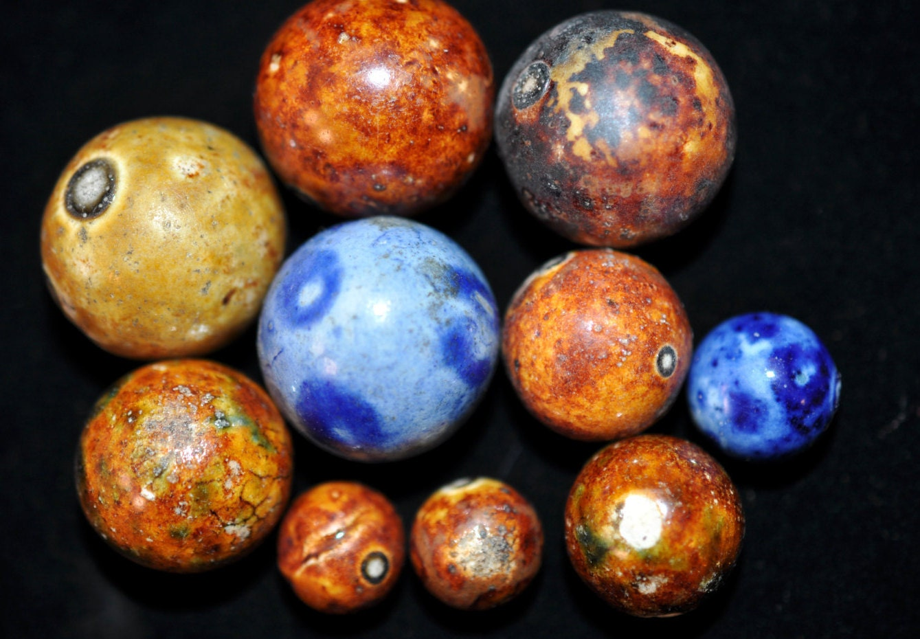 10 Antique Bennington Marbles Vintage Decor Collectible