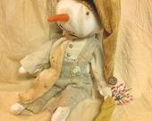 Primitive Grungy Snowfolk Doll