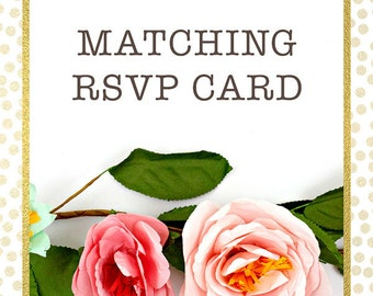 Matching RSVP Cards to any of our invitation designs - Printed RSVP Cards